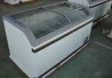 Vetro commerciale che fa scorrere i congelatori della cassa del coperchio