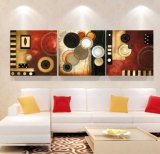 3部分の現代壁の芸術はキャンバスのホーム装飾Mc250で絵画塗られた抽象的な絵画部屋の装飾によって組み立てられた芸術映像を印刷した