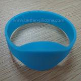 Wristband de borracha do silicone da forma RFID para a atividade do anúncio