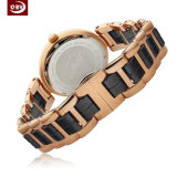 Kundenspezifische Frauen-Quarz-Dame-Edelstahl-Armbanduhr