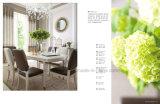 純木の白いダイニングテーブル