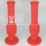 Fertigung-heiße verkaufensilikon-Schädel-Form-Tabakweed-Glas-rauchende Wasser-Rohre