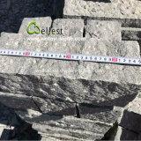 G654路傍のための暗い灰色の花こう岩6の側面のPipeappledの終わりの縁石の石