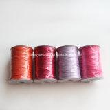 製造別のサイズの伸張および在庫からのカラーのない薄い韓国によってワックスを掛けられるポリエステルコード