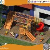 子供の幼稚園のための木の屋外の運動場装置