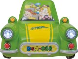 Feliz Viagem (Verde) passeio de carro para Abertura e Fechamento Kiddie Kids
