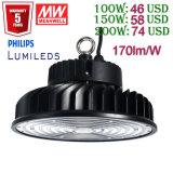 100With150With200W /300W/500W Warehouse Industrial Lighting de Baai High Light van het UFO LED