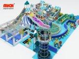 Equipamentos de playground coberto de plástico com o guerreiro ninja e Torre de aranha