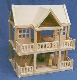 Hölzerne Spielwaren - hölzernes Haus