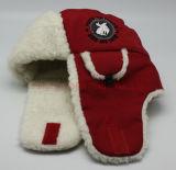 شعبيّة حمراء شتاء قبّعة/غطاء دافئ/[إرفلبس] ([ده-له858])