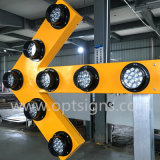 Signes Shaped de clignotement de la flèche N002, panneaux de flèche d'éclairages LED