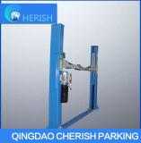 Elevatore idraulico semplice dell'automobile del piatto di pavimento dell'alberino della gru due dell'automobile 3.2t