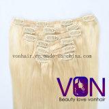 De in het groot Klem van het Haar van de Hoogste Kwaliteit Blonde 100% Braziliaanse in de Uitbreiding van het Menselijke Haar