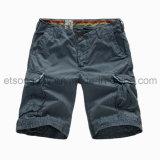 Shorts 100% degli uomini di svago del cotone con quattro la casella (APC46)