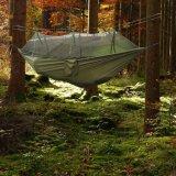 Hammock leggero del doppio del tessuto dei paracadute con la rete di zanzara