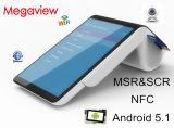 Terminal androïde de position de tablette tenue dans la main de 7 pouces avec l'imprimante