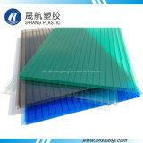 100% neues Material bereiftes Polycarbonat-Höhlung-Blatt mit UVschutz