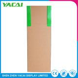Gefaltete Binder-Papier-Standplatz-Fußboden-Bildschirmanzeige-Zahnstange für Supermärkte