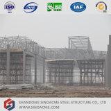 Sinoacme acero prefabricados de estructura del espacio de taller de techado
