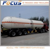 de Semi Aanhangwagen van de Tank van de Brandstof van 40cbm voor Diesel/Olie Petrol/Crude