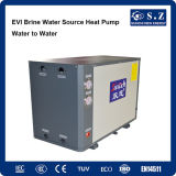 -25°C invierno calefacción habitación 10kw/15kw/20kw/25kw fuente de tierra R407c Gshp Bomba de calor geotérmica salmuera Agua (SFXRS-10I)