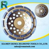 Чашка диаманта Romatools катит двойной рядок для молоть камня/пола