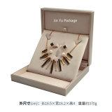 كبيرة مربّعة تمويه جلد مجوهرات هبة يعبّئ صندوق لأنّ عقد