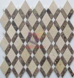 台所しぶき(CFS1143)のためのダイヤモンドの形の白い石造りのモザイク