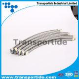 Boyau flexible de teflon de PTFE avec la tresse de solides solubles 304/306