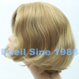 Parrucca sintetica delle donne breve con la parte superiore legata mano