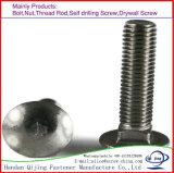 Boulons de collet de grand dos de tête de champignon de couche de DIN603 M8 25mm (boulons de transport), boulons carrés fraisés de collet