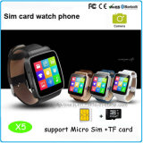 Tarjeta SIM reloj teléfono inteligente con Mtk6261 Sistema (X6)