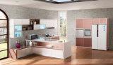 Gabinete de cozinha popular novo da porta do MDF do acrílico 2017 (zv-003)