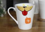 Vetro bevente bianco personalizzato della tazza di caffè della ceramica per i regali di promozione