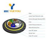 Apoya los núcleos de auto de 12 Cable de fibra óptica monomodo 9/125