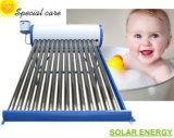 避難させた管の太陽給湯装置(非圧力ソーラーコレクタの間欠泉)