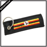 Modo Embroideried Key Chain per Promotion Gift con il paese Flags (BYH-10870)