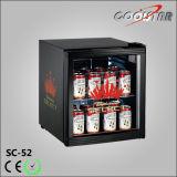 Refrigerador de la bebida de la puerta de cristal de dos capas mini (SC52)
