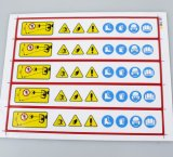 Kundenspezifisches Drucken-warnende Aufkleber-Kennsätze