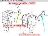 ランプ29250000241 2925000021のSdlg LG953 LG956 LG958の車輪のローダーの部品の左右ブラケット