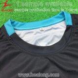 Futebol cheio Jersey do Sublimation da tintura do ajuste seco de Healong
