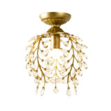 호텔 대중음식점 소형 초 금속 검정/청동색 색깔에 있는 수정같은 천장 샹들리에 램프 점화