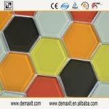 L di vetro mattonelle di mosaico per la parete della stanza da bagno