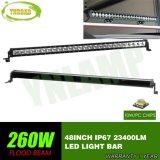 barra clara do diodo emissor de luz do CREE de 260W 48inch IP67 para SUV Offroad