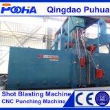 品質の鋼鉄ショットブラスト機械Q69鋼鉄はクリーニング機械の側面図を描く