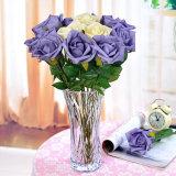 Venta al por mayor barata de vidrio cristalino claro florero para la decoración del hogar