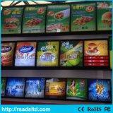 간이 식품 대중음식점을%s 알루미늄 LED 메뉴 가벼운 상자