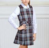 Vestito a strisce normale classico dall'uniforme scolastico di griglia di vendita calda per le ragazze