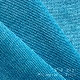 Tissu en velours côtelé en nylon et en nylon taillé avec support en T / C