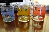 Venta caliente de oro del té taza de café de cristal con la etiqueta Vajilla